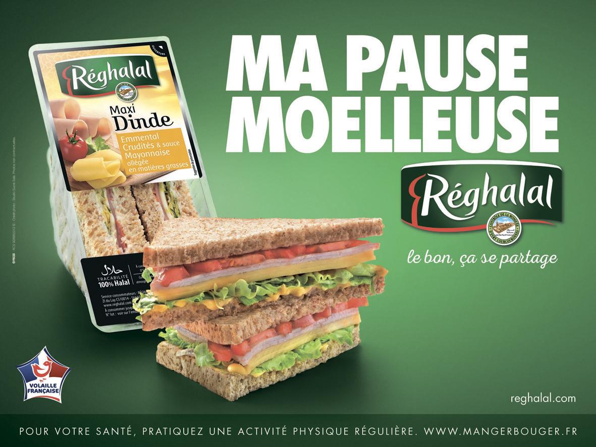 Sandwichs triangle Réghalal maxi dinde