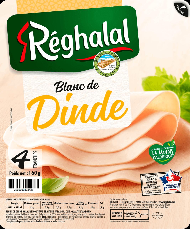 4 tranches de blanc de dinde Réghalal
