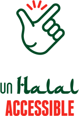 Illustration d'une main, un halal accessible