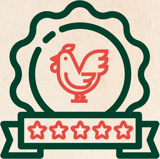 Illustration d'un poulet halal 5 étoiles